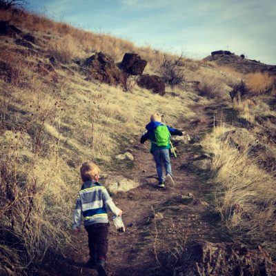 Kids Hike Castle Rock Boise